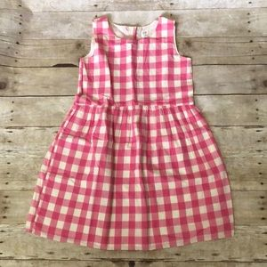 NWT girls Gap pink plaid dress size L